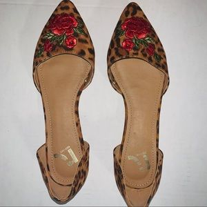 Report Dorsay Floral Embroidered Flats 7